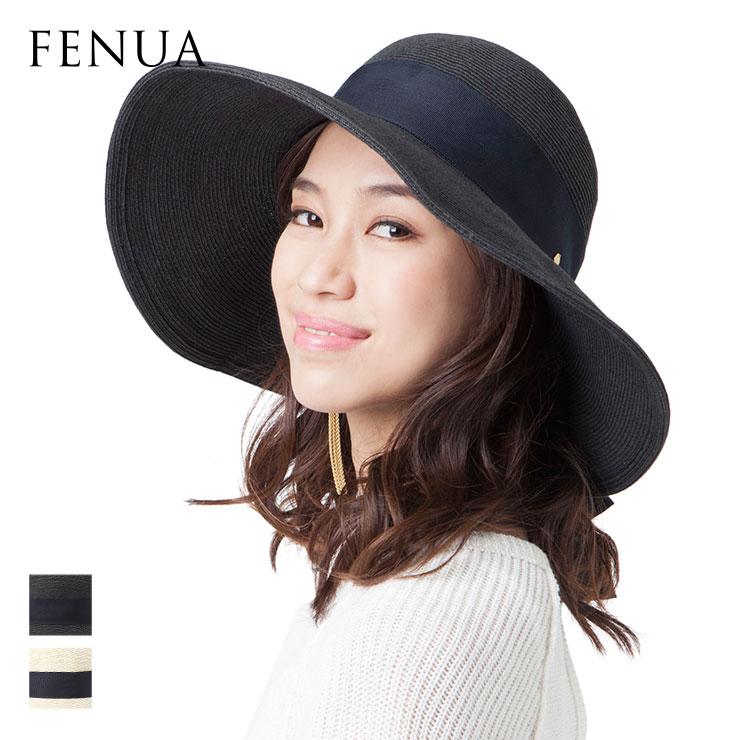 フェヌア ハット SEVENSUKY レディース 日本製 麦わら UV つば広 帽子 春 夏 全2色 Mサイズ FENUA【UNI】