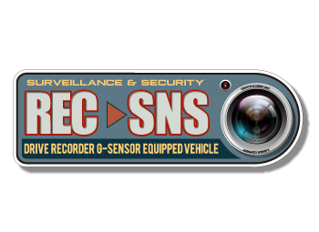 卓出 送料無料 ドラレコ ステッカー ドライブレコーダー 耐水 耐光 車用 屋外用 煽り運転 ドライブレコーダー搭載車用警告ステッカーREC#9654;SNS お買い得