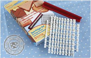 Cafe De Savon Alphabet Cookie Stamp Set Rakuten Global