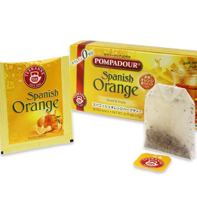ノンカフェインの美味しいハーブティー♪【ポンパドール/スパニッシュオレンジ/ハーブ/ティーバッグ】  ポンパドール スパニッシュオレンジハーブティー 10ティーバッグ