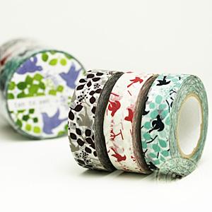 【ポストお届け可/6】 マスキングテープ メッセージバード 3色セット 【マステ/倉敷意匠計画室】