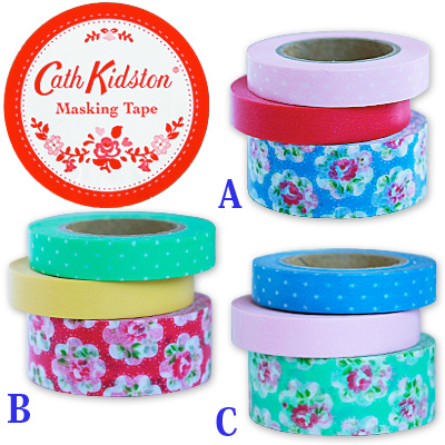 Cath kidston masking tape 3-color set