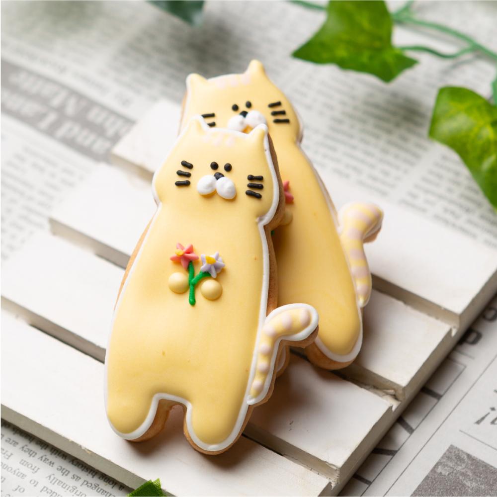 安心の実績 高価 買取 強化中 立ちネコ 定番キャンバス 動物 猫 ペット カワイイ かわいい プチギフト アニマル アイシングクッキー お菓子