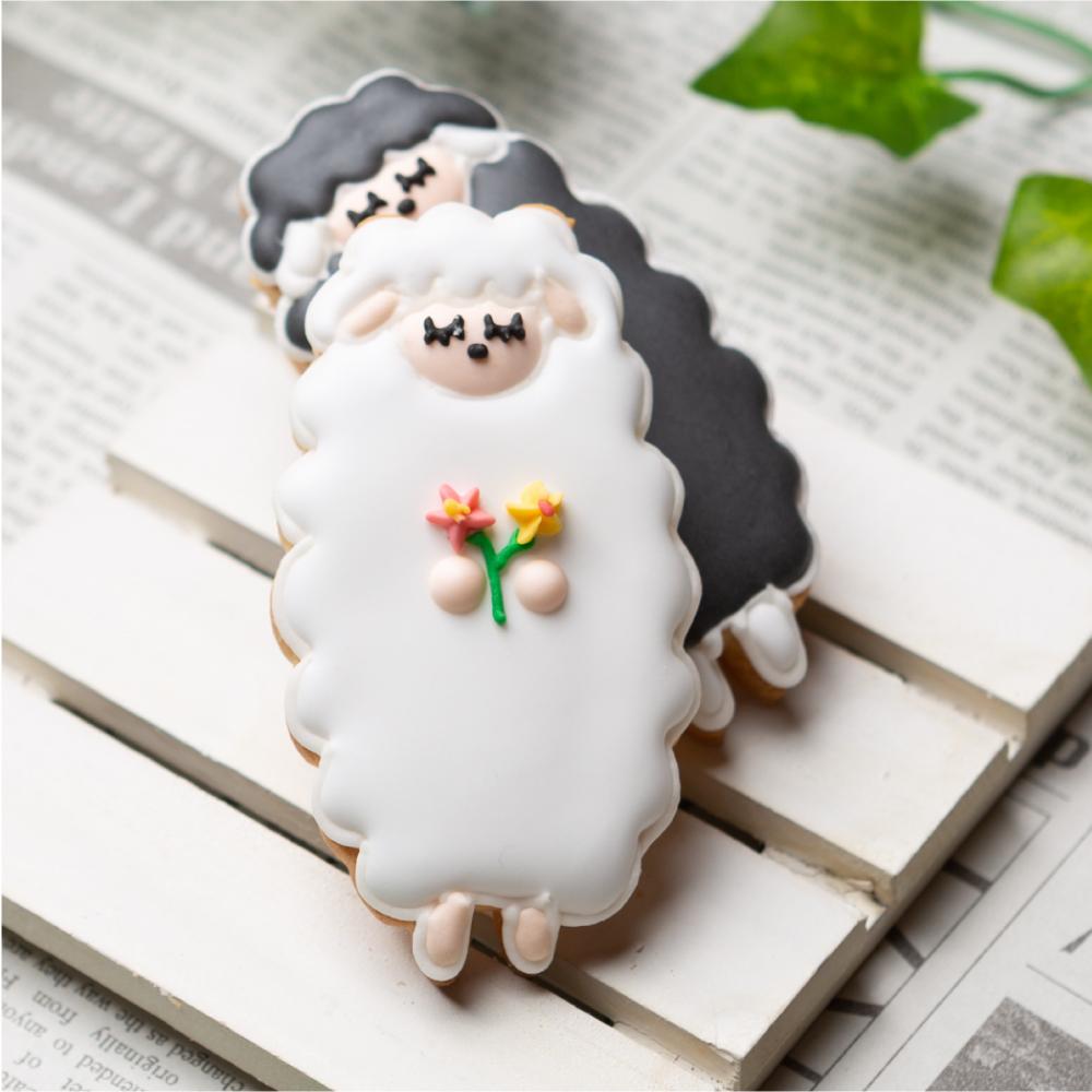 立ちひつじ 動物 未 羊 日本メーカー新品 限定タイムセール カワイイ アイシングクッキー プチギフト かわいい アニマル お菓子