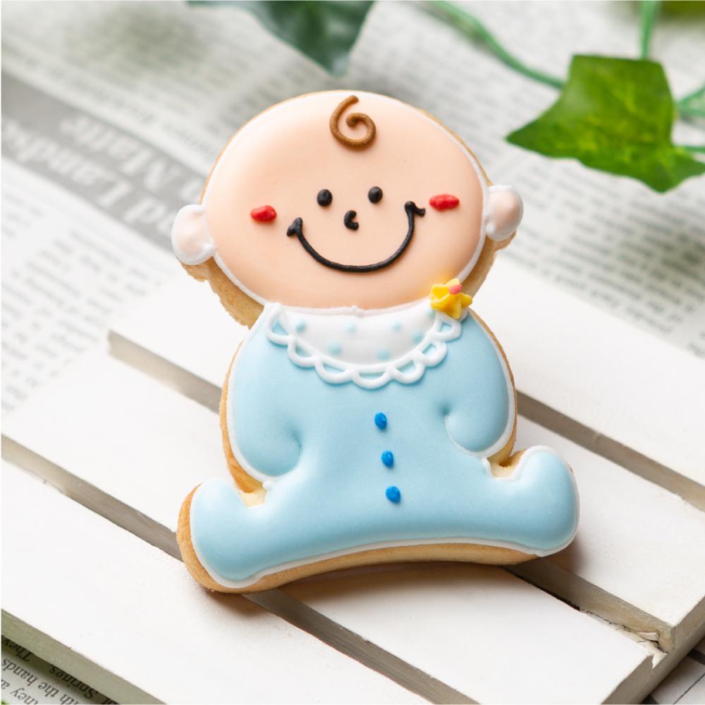 男の子あかちゃん 赤ちゃん アイシングクッキー プチギフト 店舗 かわいい 100日祝い お菓子 安値 内祝い お食い初め 出産祝い
