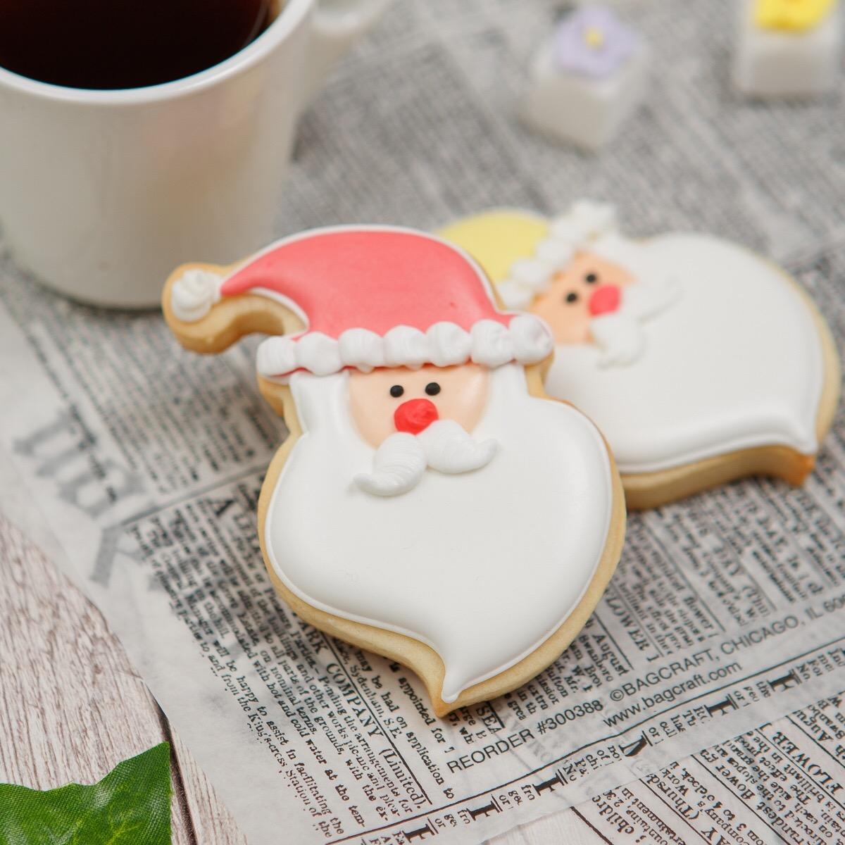 名前入りカラフルサンタ 人気のカラフルサンタ 大特価 サンタB アイシングクッキー クッキー クリスマス プチギフト かわいい お菓子 文字入れ 名入れ 正規認証品!新規格
