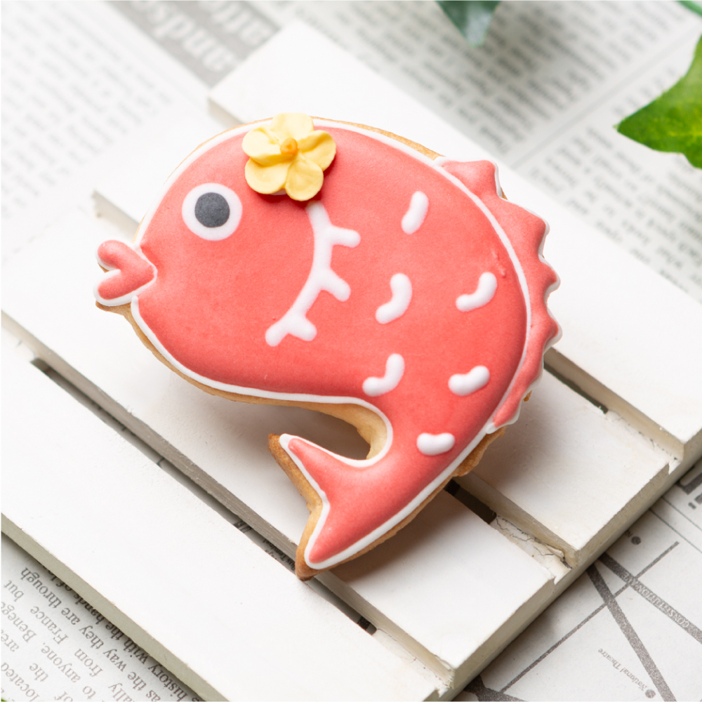 鯛 赤ちゃん 本物◆ アイシングクッキー プチギフト かわいい お菓子 お祝い 内祝い ブランド買うならブランドオフ お食い初め 100日祝い 出産祝い 還暦祝い