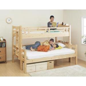 ★ポイントUp5倍★ダブルサイズになる・添い寝ができる二段ベッド kinion キニオン ベッドフレームのみ シングル・ダブル[4D][00]