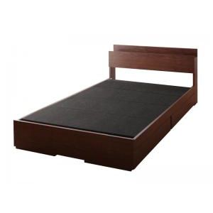 ★ポイントUp4.5倍★棚・コンセント付き収納ベッド Arcadia アーケディア ベッドフレームのみ 床板仕様 シングル[00]