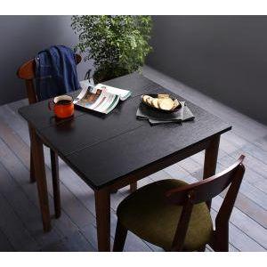 ★ポイントUp5.5倍★カフェ ヴィンテージ ダイニング Mumford マムフォード 3点セット(テーブル+チェア2脚) ブラック×ブラウン W68[00]