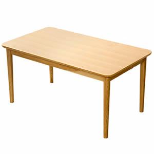 ★ポイントUp5.5倍★ダイニングテーブル単品(幅130cm) ナチュラルロータイプ 木製アッシュ材|Risum-リスム-【代引不可】 [03]