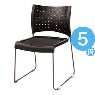 ★ポイントUp5倍★ジョインテックス 会議椅子(スタッキングチェア/ミーティングチェア) 肘なし FM-1 【完成品】[21]