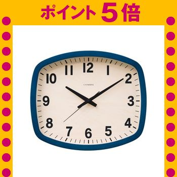 ★ポイントUp5倍★CHAMBRE R-SQUARE CLOCK【NAVY】[21]