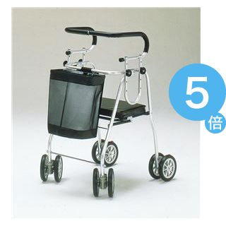 ★ポイントUp5倍★五十畑工業 歩行車 アシストシルバーカー ニューDX H007【非課税】[21]