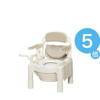 ★ポイントUp5倍★アロン化成 樹脂製ポータブルトイレ ポータブルトイレFX-CP はねあげ 534-500 534-500[21]