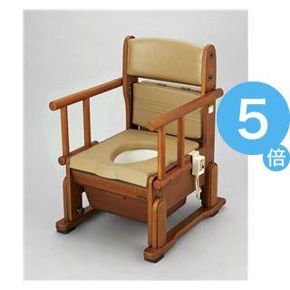 ★ポイントUp5倍★ウチヱ 木製ポータブルトイレ さわやかCH(ホット・自在) 8242[21]