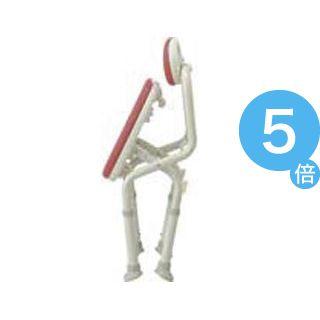 ★ポイントUp5倍★アロン化成 シャワーチェア 安寿コンパクト折畳シャワーベンチIC背付レッド 536-362[21]