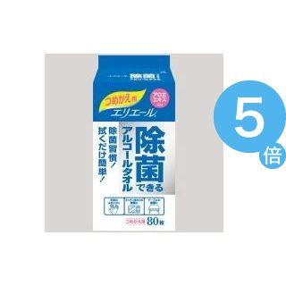 ★ポイントUp5倍★(業務用20セット)大王製紙 除菌できるアルコールタオル 詰替 80枚[21]