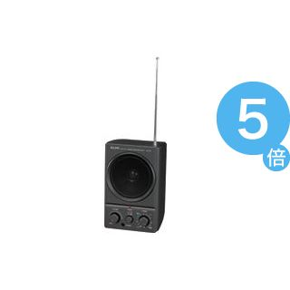 ★ポイントUp5倍★(業務用20セット)朝日電器 ELPA AM FMスピーカーラジオER-19F[21]