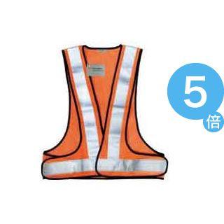 ★ポイントUp5倍★(業務用6セット)スリーエム 3M 高視認性反射ベストSVP-02R レッドオレンジ ×6セット[21]