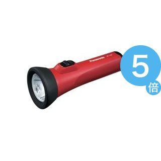 ★ポイントUp5倍★(業務用50セット) Panasonic パナソニック LED懐中電灯 BF-158BF-R 赤[21]
