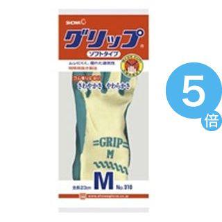 ★ポイントUp5倍★(業務用40セット) ショーワ 手袋グリップソフト 5双 パックグリーン M[21]