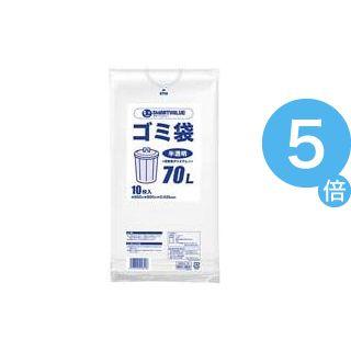 ★ポイントUp5倍★(業務用100セット) ジョインテックス ゴミ袋 LDD半透明 70L 10枚 N209J-70[21]