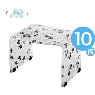 ★ポイントUp10倍★風呂椅子 バスチェアー Mサイズ フィルロ フラワー ブラック【代引不可】 [01]