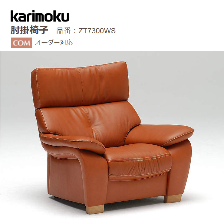 カリモク 肘掛椅子 ZT7300WS