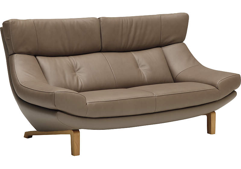 カリモク 2人掛椅子ロング ZU4612ZE
