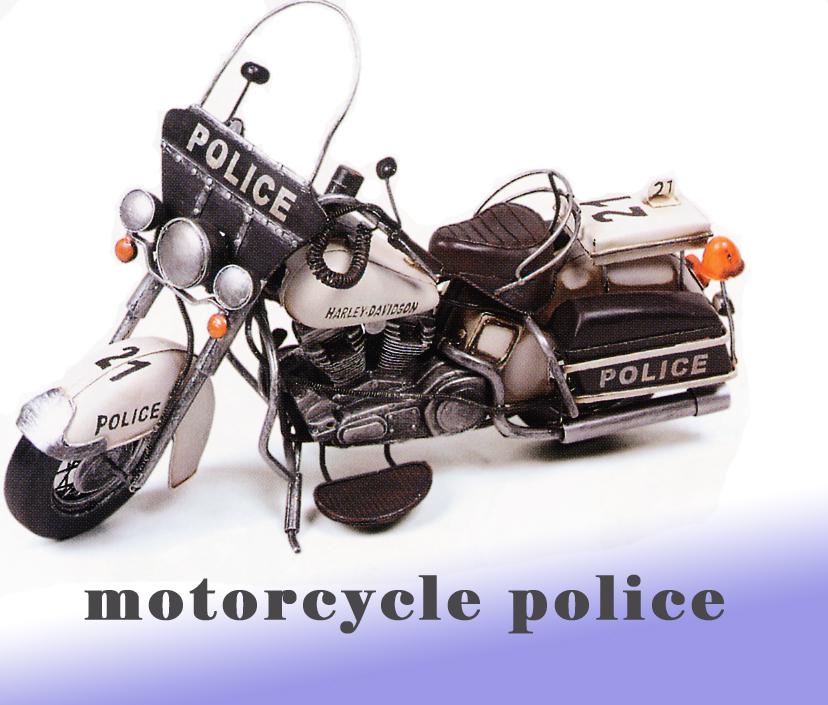 ブリキのモーターサイクルpolice27218