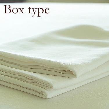【LinenMeブランド】リネン100% 送料無料♪ リネン ボックスシーツ オフホワイト 【キング 180X200X35cm】リトアニア製