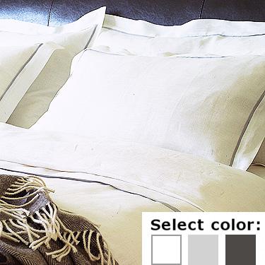 送料無料♪ リネン掛け布団カバー LIN078 パイピング 【シングル 150X210cm】リトアニア製