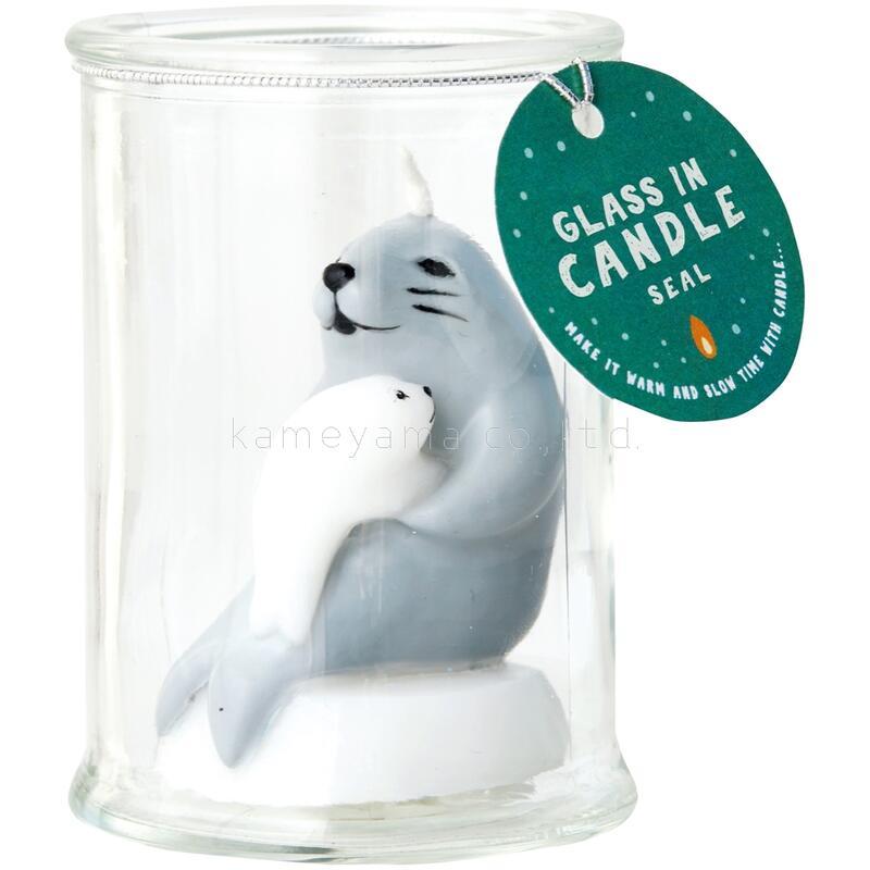グラスインキャンドル アニマルキャンドル kameyama アザラシ カメヤマ 定番キャンバス candle 25%OFF