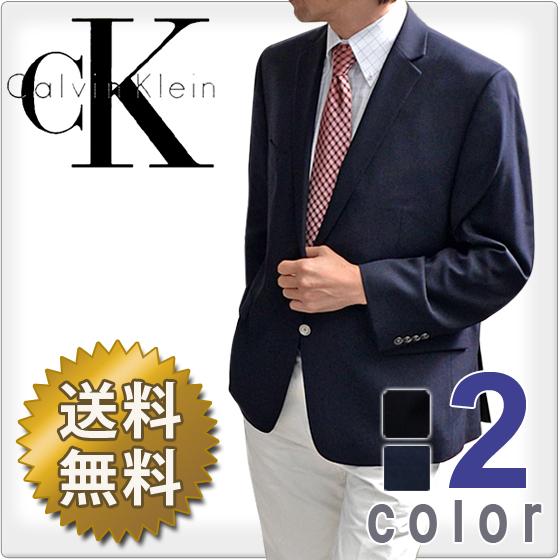 CalvinKlein カルバンクライン メンズ 2ボタン ブレザー ジャケット(2色展開)(Men's Mavin Blazer)7WX0001[ネイビーブラック][紺ブレザー フォーマルウェア 黒ブレザー ck]大きいサイズ[送料無料]ブランド 春秋冬
