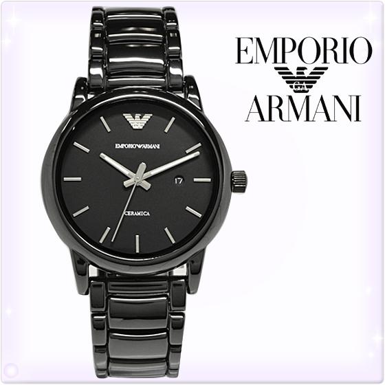 【新品】エンポリオアルマーニ 時計[EMPORIO ARMANI]エンポリオアルマーニ メンズ 腕時計 [LUIGI/ルイージ] ブラックセラミック 黒×シルバー [AR1508][エンポリ うでどけい ウォッチ 時計][送料無料]ブランド