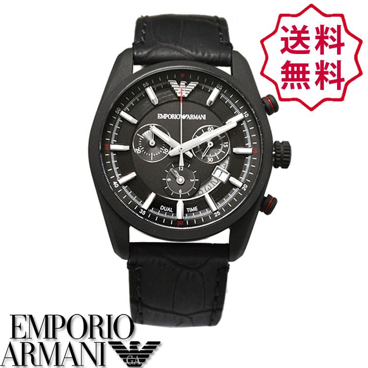 【新品】エンポリオアルマーニ 時計[EMPORIO ARMANI AR6035]メンズ 腕時計 クロノグラフ スポルティーボ[マットブラック×ブラック][エンポリ うでどけい ウォッチ 時計][送料無料]ブランド スポーティボ