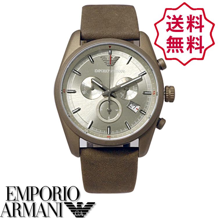 【新品】エンポリオアルマーニ 時計[EMPORIO ARMANI]メンズ 腕時計 クロノグラフ スポーティボ SPORTIVO [AR6076][カーキ シルバー][エンポリ うでどけい ウォッチ 時計][送料無料]ブランド スポルティーボ