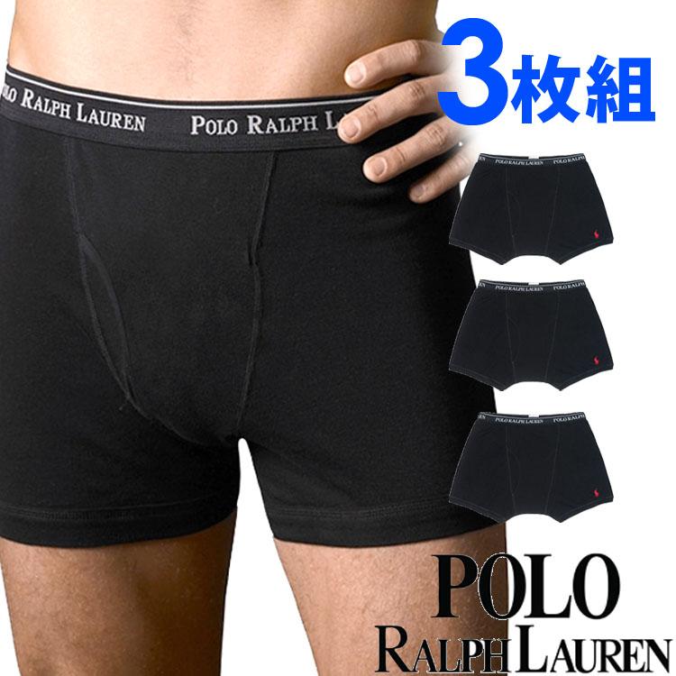 POLO RALPH LAUREN ポロ ラルフローレン メンズ クラシックフィット ボクサーパンツ 3枚セット[ブラック 黒][S/M/L/XL][ポロ・ラルフローレン インナー ルームウェア ルームウエア ブリーフ 下着][5,400円以上で送料無料]大きいサイズ ブランド[RCBBP3 (LCBB)]