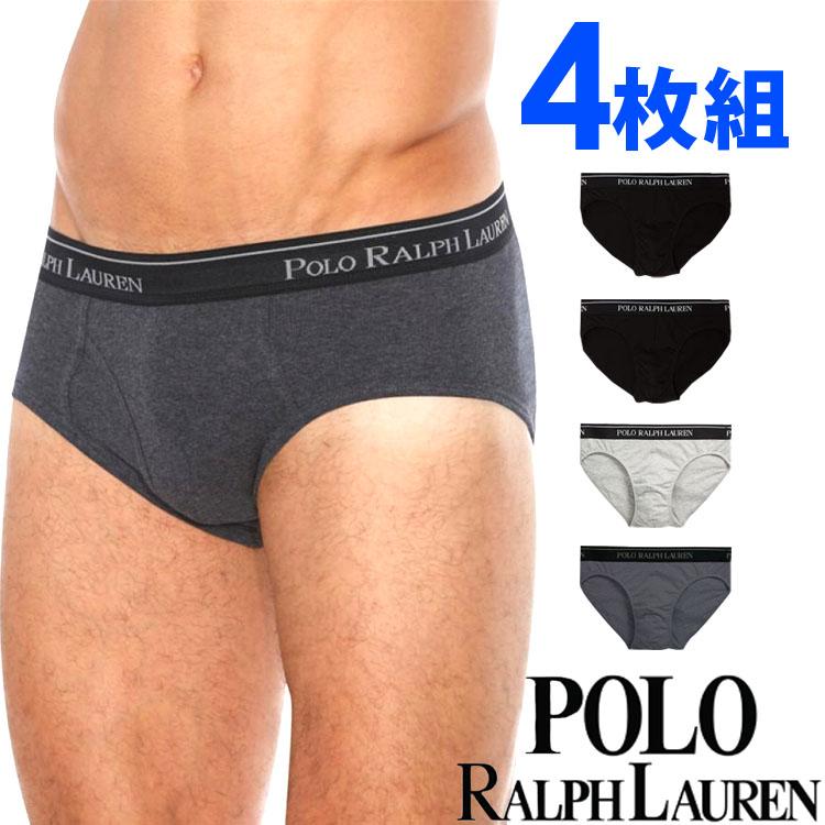 POLO RALPH LAUREN ポロ ラルフローレン メンズ クラシックコットン ローライズ ボクサーパンツ グレーアソート 4枚セット[黒 灰色][S/M/L/XL][ポロ・ラルフローレン ラルフローレン インナー ルームウェア ブリーフ][5,400円以上で送料無料]大きいサイズ ブランド[LCBF]