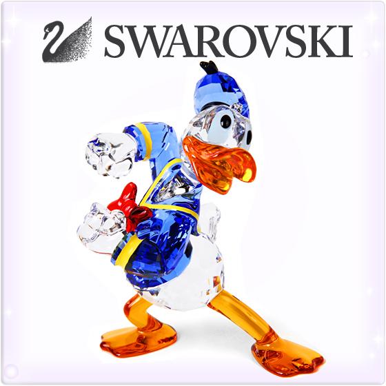 SWAROVSKI スワロフスキー 置物 クリスタル ディズニー ドナルドダック 置物[5063676][Disney Donald Duck][クリスマスオーナメント スワロフスキー 置物 ディズニーキャラクター][ブランド 置物 ガラス細工 インテリア 飾り][送料無料]
