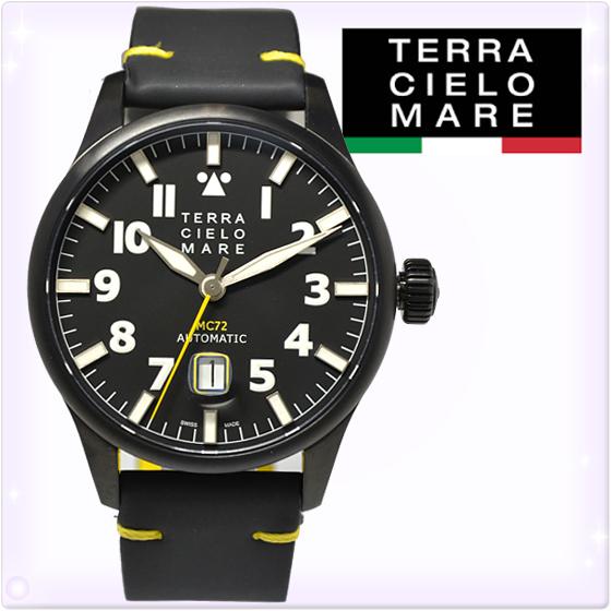 【新品】TCM テッラ チエロ マーレ メンズ 腕時計 アヴィアトーレ マーク2(AVIATORE MarkII) 黒/黒 メンズ 腕時計 [TC7103TRO3PA] レザー腕時計[うでどけい ウォッチ 時計 アナログ]ブランド