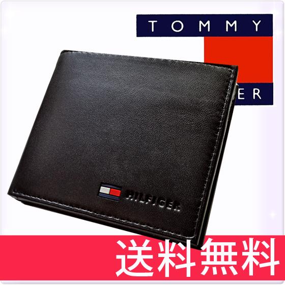 c05a33607c65 TOMMYHILFIGERトミーヒルフィガー二つ折り財布小銭入れ付[黒ブラックblack][メンズ