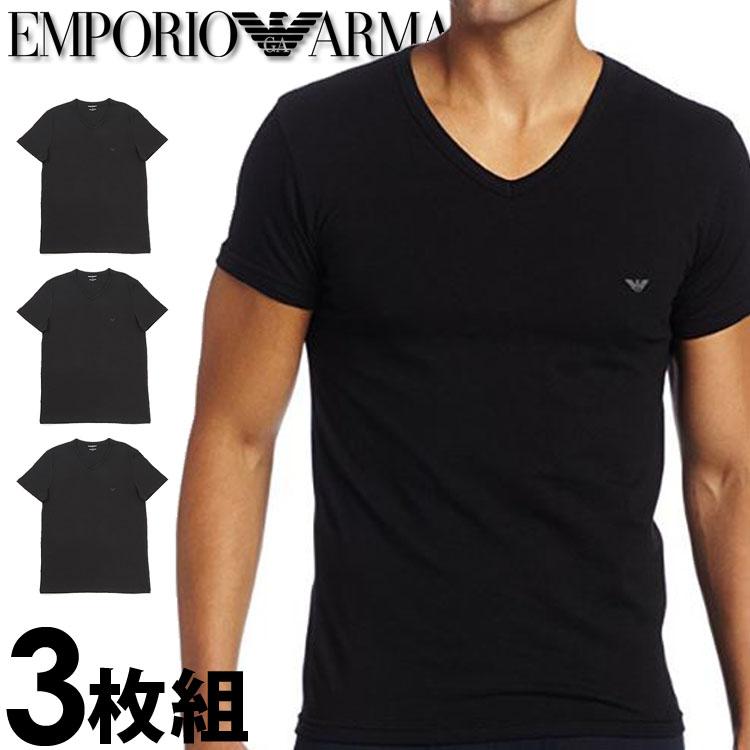 get cheap cheap for discount delicate colors More than EMPORIO ARMANI Emporio Armani men t shirt three pieces pack V  neck T-shirt pure cotton black [Emporio Armani t shirt black underwear ...