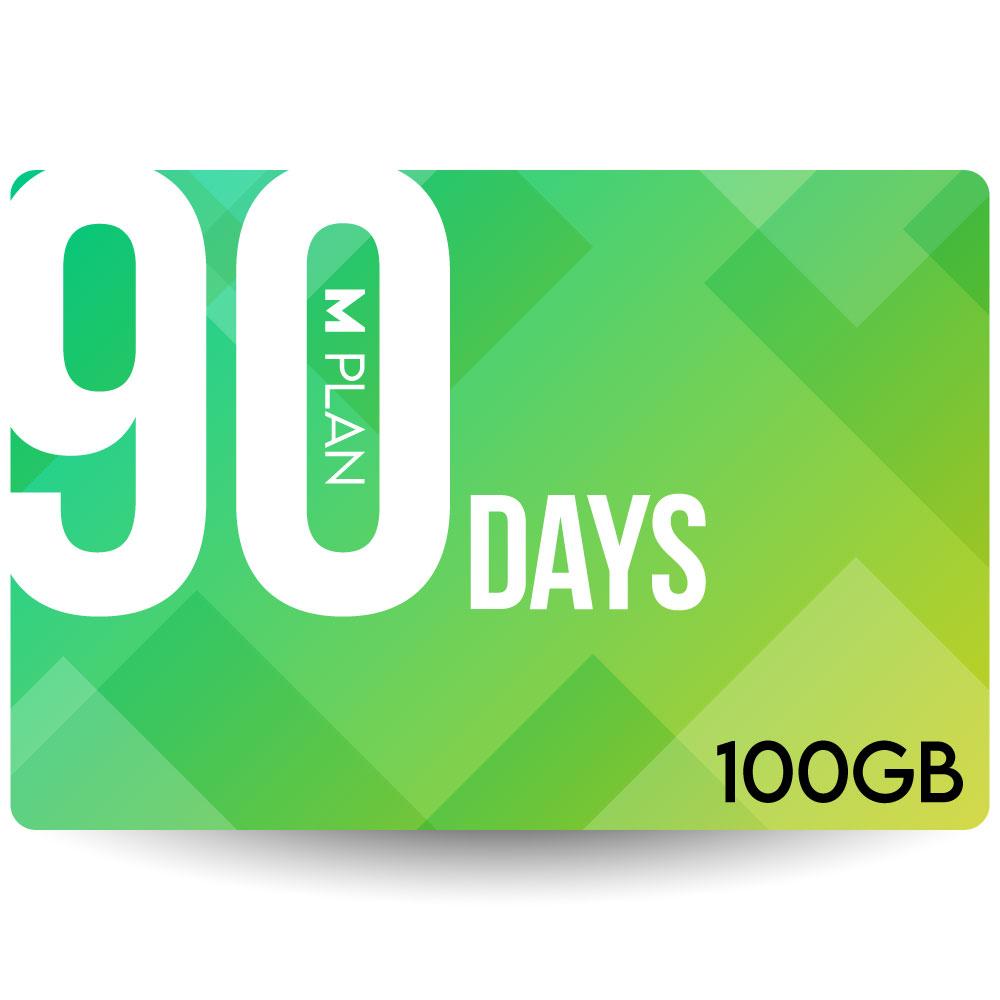 プリペイドSIMカード 90日100GBプラン[Mプラン] 期間内使い切りプラン 日本国内用