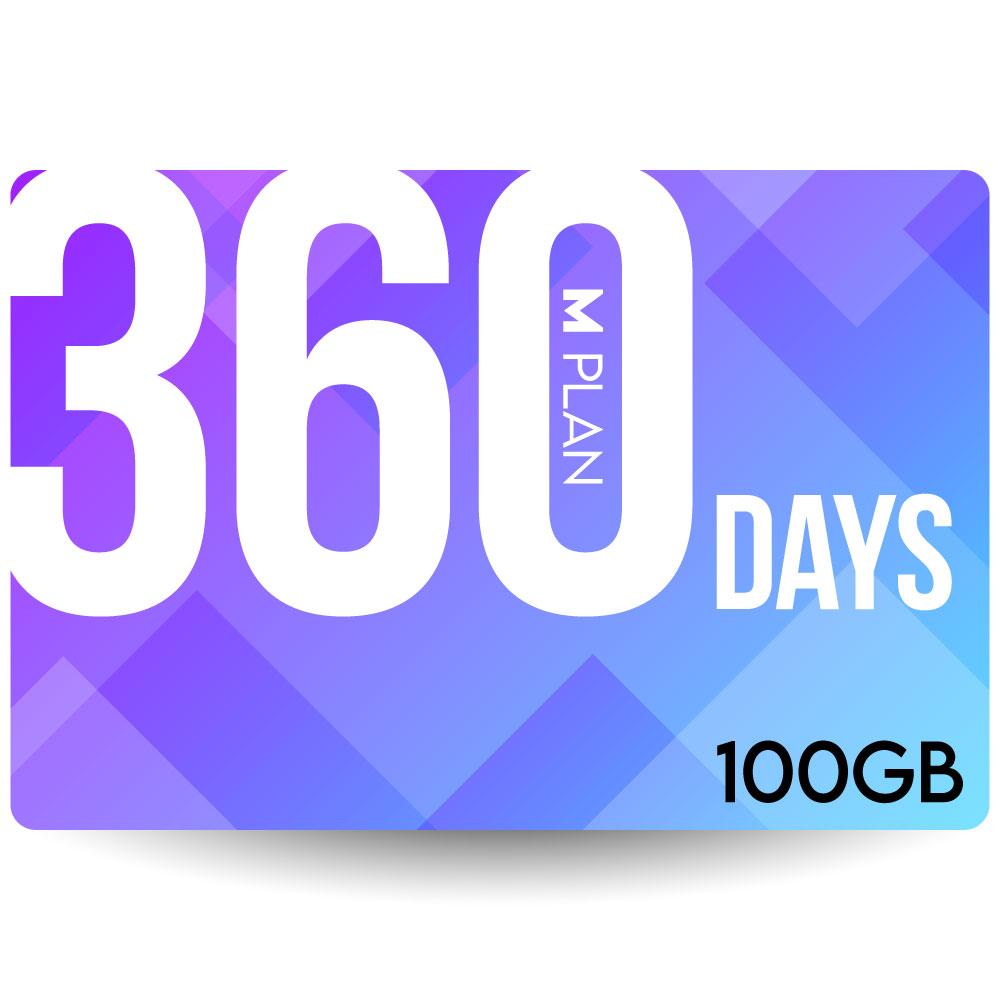 送料無料でお届けします テレワーク向け リモートワーク オンライン学習用などにオススメ プリペイドSIMカード 期間内使い切りプラン Mプラン 送料無料 360日100GBプラン 日本国内用