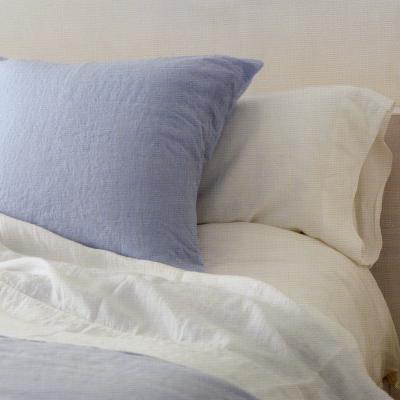 OXYGEN ベルギー ベッド リネン 麻 フラットシーツ150x270 CIEL(水色)  【送料無料】