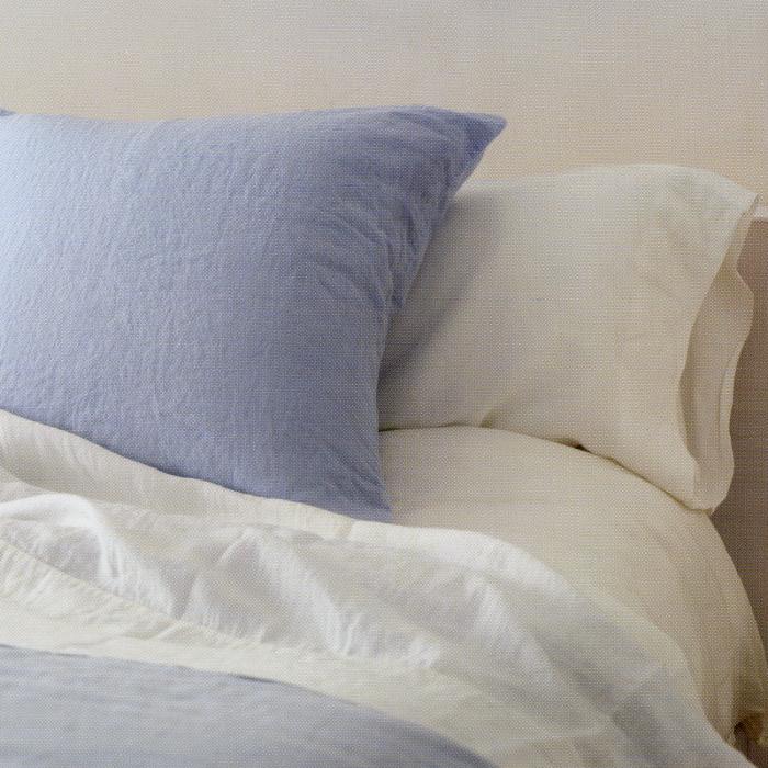 OXYGEN ベルギー ベッド リネン 麻 フラット シーツ 280x270 CIEL(水色)  【送料無料】
