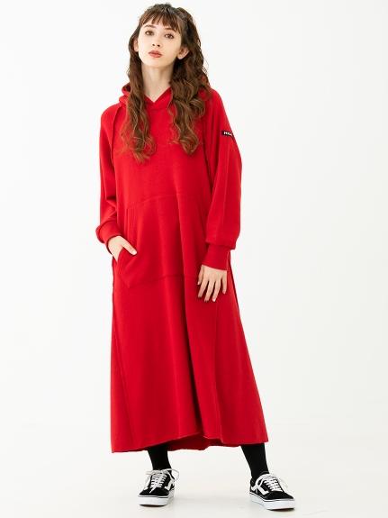 MILKFED.(ミルクフェド)RAGLAN SLEEVE HOODED DRESS