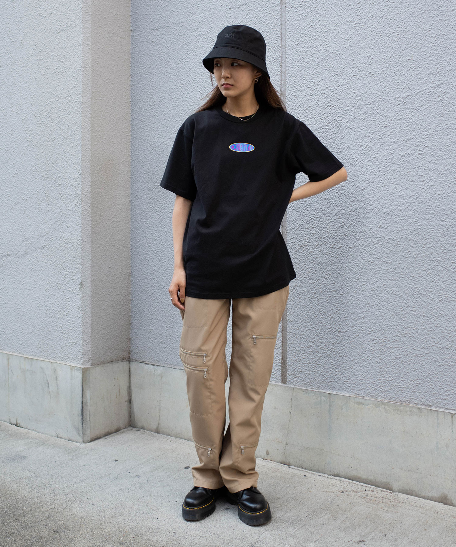 X-girl(エックスガール)通販|RUBBER_LOGO_S/S_TEE
